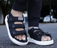 aadi Men Black Sandals