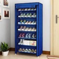 Philoshop Shoe Organizer Metal Shoe Stand(Blue, 7 Shelves, Pre-assembled)