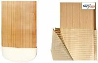HeadTurners Cricket Bat Toe Guard with Bat Face Tape Fibre Scuff Sheet-(1 Piece Each) Cricket Guard Combo