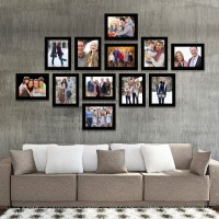 IMAGINATIONS IM-PFC86S-ST12D202 8 inch Wall Collage Photo Frames(512 MB, Black)
