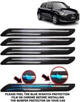 CARZEX Microfibre Car Bumper Guard(Black, Pack of 4, Maruti, Swift)