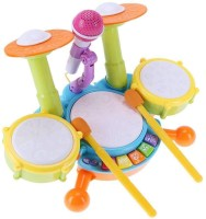appigo Drum Keyboard Musical Toy for Kids with Piano,DrumStick and MicrophoneKids Drum Set, Drum Set for Kids Electric Toys Toddler Musical Instruments Playset Flash Light Toy Plastic with Adjustable Microphone, Toys for Boys and Girls(Multi color,Pack of 1 set)(Multicolor)