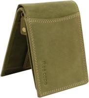 ree cope Men Trendy, Casual Green Genuine Leather Wallet(8 Card Slots)