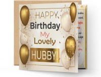 redbakers.in Happy Birthday My HUSBAND Greeting Card Greeting Card(Multicolor, Pack of 1)