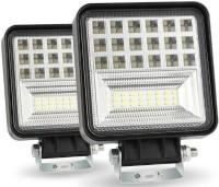 Bidas 42 LED Square Fog Light Waterproof Fog Lamp, Headlight Car, Truck, Van, Motorbike LED (12 V, 126 W)(Universal For Car, Universal For Bike, Pack of 2)
