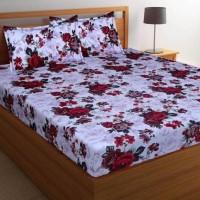 New Click Shop 144 TC Cotton Double Floral Bedsheet(Pack of 1, Multicolor)