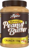 ALPINO Classic Peanut Butter Crunch 1 KG   Made with Roasted Peanuts   25% Protein   Non GMO   Gluten Free   Vegan   1 kg