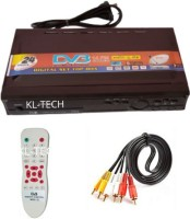 KL-TECH Dth direct to home DD Free Dish Set Top Box Receiver Free to Air for (DTH-MPEG2) with REMOT & AV Lead (BLACK) Media Streaming Device(Black)