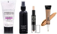 Vedy THE BEST EVER FACE MAKE UP COMBO KIT.LONG LASTING MAKEUP SETTING SPRAY FIXER PRIMER Primer - 100 ml (TRANSPARENT).waterproof long lasting illuminating primer Primer - 50 ml (transparent).Highlighter Stick 3D Contour Balm Shadow Base Cosmetic Face Primer Makeup Cream Waterproof Stick Concealer (