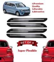 KIIRUS Plastic Car Bumper Guard(Black, Pack of 4, Universal For Car, Universal For Car)