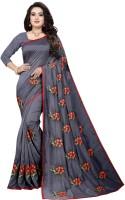 Toriox Embroidered, Woven Banarasi Vichitra, Cotton Blend Saree(Grey)