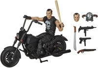 MARVEL Legends Series 15-cm Collectible Action Figure The Punisher Toy and Motorcycle, Premium Design and 7 Accessories(Multicolor)