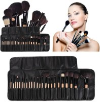 Sh.Huda Real Technique Makeup Brushes Beauty kit With Leather Storage Bag(Pack of 24)