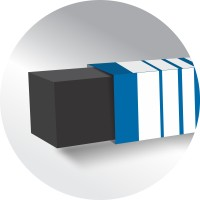 Flair Creative Square Non-Toxic Eraser(Black)