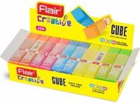 Flair Creative Cube Non-Toxic Eraser(Multicolor)