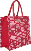 ECOTARA Marvel Designer Classic Printed Multipurpose Premium Quality Eco Friendly Everyday Useful Travel Bag, Office Bag, Lunch Bag, Hand Bag, Gift Bag With Closing Zipper & Bottle Holder Natural Jute Bag For Mens & Womens (30H cm X 26L cm X 1.5W cm) Multipurpose Bag(Red, 3 L)
