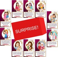 ODDCLICK Set of 10 Best Mother Ever Birthday Cards For Explosion Box or Other DIY Love Greeting Cards Greeting Card(Multicolor, Pack of 10)