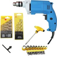 ISC Digi Craft 2310 Powerful Electric Simply 10mm Drill Machine With Drill Bit Set T-Bar Screwdriver Set Pistol Grip Drill(10 mm Chuck Size)