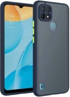 Lilliput Back Cover for Realme C21(Blue, Grip Case)