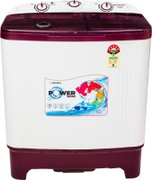 Sansui 6.5 kg Semi Automatic Top Load White, Maroon(SISA65A5R)