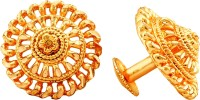 MEENAZ Temple Jewellery Traditional South Indian Screw Back 18k Brass Copper 22kt 1 one gram gold wedding bridal Stylish fancy party wear designer Antique Ethnic Studs Meenakari Flower Earrings for girls women wife Combo pack matte Golden Micro Micron Round Ear ring Collection small Tops Stud Set Fa