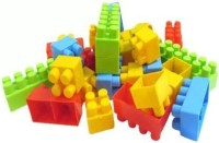 jmv multicolored building block sets toy for kids with 100 pieces of block constructions.(Multicolor)
