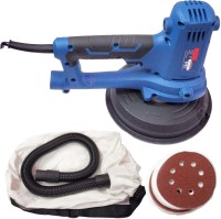 """Mass Pro Heavy 7"""" (180mm) Round Electric Handheld Variable Speed Drywall Sander Machine Vacuum With Attachments 7 inch Disc Sander"""