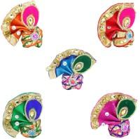 RRR HANDICRAFTS pagdi Deity Ornament(Stylish Kanha ji, Laddu gopal, Thakur ji, pagdi Set of 5)