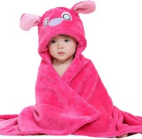 Bajia Creation Pink Free Size Bath Robe(Pack Of 1, For: Baby Boys & Baby Girls, Pink)