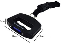 SYGA Hanging Scale Digital Hand Scaller Luggage Scales up to 50 kg With Strap Weighing Scale(Black)