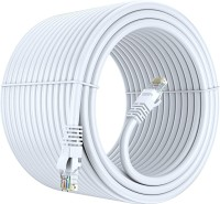 Fedus Cat 6 Ethernet Cable White 50Meter Flat Solid Internet Network Cable– Short Durable Computer netwokr Cord - Cat6 High Speed RJ45 Patch LAN Wire for Modem, Router, Switch, Server, ADSL 50 m LAN Cable(Compatible with Computer, HD TV, laptop, monitor, White, One Cable)