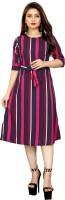 Modli 20 Fashion Women A-line Pink, Blue Dress