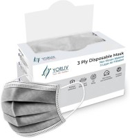 YORLIV 3 Ply Mask with Nose Pin, Unbreakable Ear loops (Ultrasonically Welded) & Ultra Soft Ear loops (which does not hurt ears) (BOX SEALED PACKING) Pharmaceutical Breathable Surgical Pollution Face Mask Respirator For Men, Women, Kids 3 Layer Extra Thick Extra Protective Disposable Mask Surgical M
