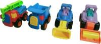 Richuzers High Quality Unbreakable Truck Set With, JCB, Crane, Dumper Construction Toy Set For Kids(Multicolor)