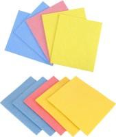 MotoPanda 10pc Set Kitchen Sponge Wipe / All Surface Sponge Cloth made of 100% Biodegradable Cellulose Sponge Mop(Multicolor)