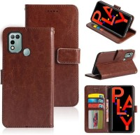 BOZTI Back Cover for Infinix Hot 10 Play(Brown)