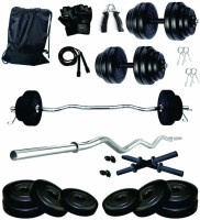FitBox Sports Intruder 16kg Home Gym Combo - Curl Rod, Dumbbell Rods & Weight Plates Adjustable Dumbbell(16 kg)