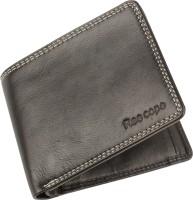 ree cope Men & Women Casual, Trendy Black Genuine Leather Wallet(9 Card Slots)