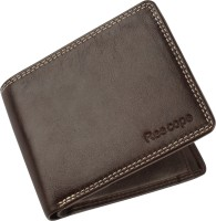 ree cope Men Casual, Trendy Brown Genuine Leather Wallet(9 Card Slots)