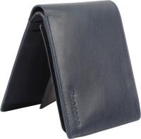 ree cope Men Casual, Trendy Blue Genuine Leather Wallet(8 Card Slots)