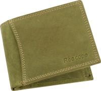 ree cope Men Casual, Trendy Green Genuine Leather Wallet(9 Card Slots)