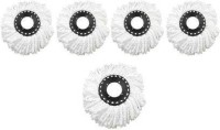 MS MODSTYLE Pack of 5 Replacement Head Refill for 360 Rotating Easy Spin Mop Cleaner Duster Refill Mop Head(White)