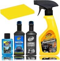 CITRUS POWER Multi-Purpose 250ml, Wash & Wax 60ml, Chrome Cleaner 60ml, Windshield Cleaner 30ml Combo, Sponge Combo