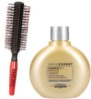 Saesha. Hair Brush // LOreal Paris Serie Expert Power Mix NUTRI, 150 ml(100% orignal Products)(2 Items in the set)