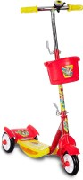 Miss & Chief Noddy 3 Wheel Adjustable Height Kids Scooter with Storage Basket , Bell , Foot Break , Weight Capacity 40 kgs (4 to 9 Years, Red )(Red)