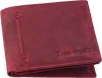 Tree Wood Men Casual, Formal, Trendy Red Genuine Leather Wallet(4 Card Slots)