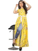 Westernress Women A-line Yellow Dress
