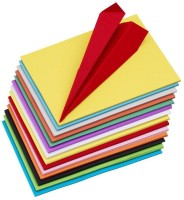 Talukdar Lifestyle 100 pcs UNRULED A4 80 gsm Origami Paper(Set of 100, Multicolor)