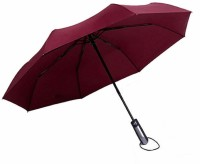 Officeforce Japanese Brand Automatic Open & Close Button with Long Size Handle & Cover Cap Wind Vent Sun & Rain Umbrella Useful for Men Women Kids Boys & Girls, Students, Gifts Umbrella(Maroon)