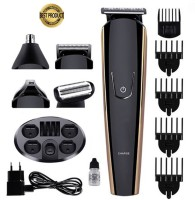 SSG 526 NEW EDITION PROFESSIONAL RECHARGEABLE CORDLESS 8 IN 1 MULTI GROOMING KIT HAIR CLIPPER BERAD TRIMMER BODY SHAVER NOSE TRIMMER EYEBROW TRIMMERHAIR CUTTER FOR MEN AND WOMEN BATTERY RUN TIME 120 MIN  Runtime: 120 min Grooming Kit for Men & Women(Black)